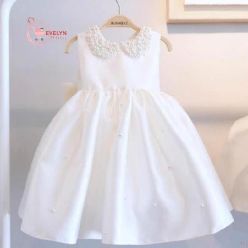 Đầm công chúa Evelyn Mã VF12 thời trang cho bé gái 0-9 tuổi mặc dự tiệc sinh nhật.