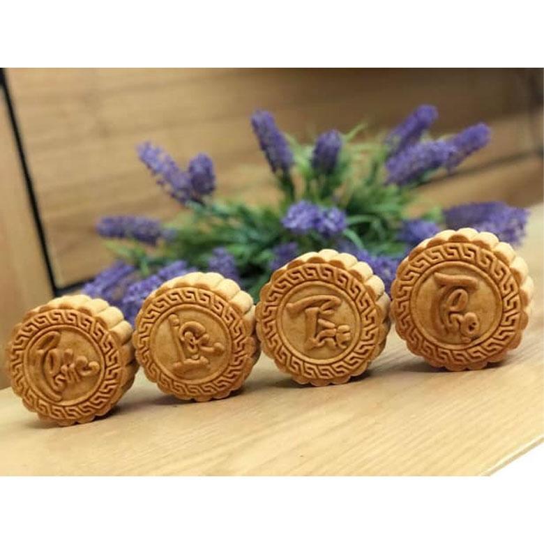 Khuôn Bánh Trung Thu Lò Xo 4 Mặt Tròn Phúc Lộc Thọ Tài 200g – 250g (BHT000415)