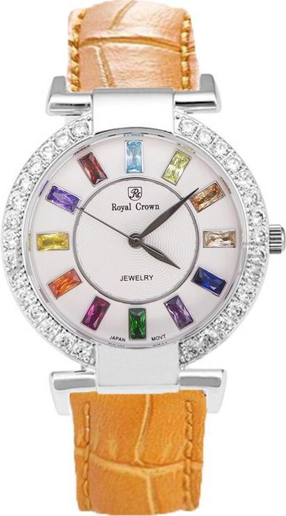 Đồng hồ nữ chính hãng Royal Crown 4604 - dây da cam