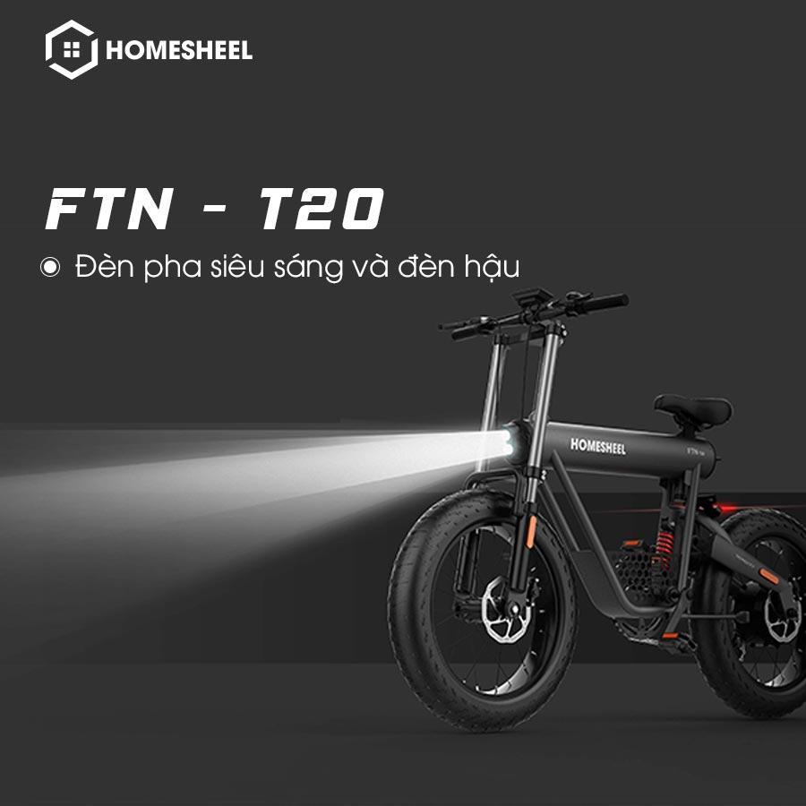 Xe Điện Thể Thao Homesheel FTN T20 - Hàng Chính Hãng - Mãu Đen