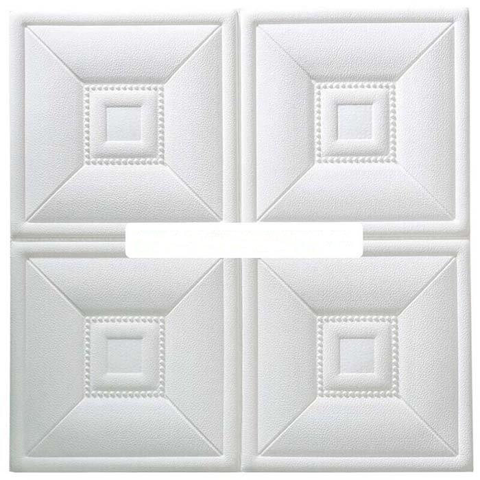 Bộ 10 tấm xốp dán tường 3D giả da