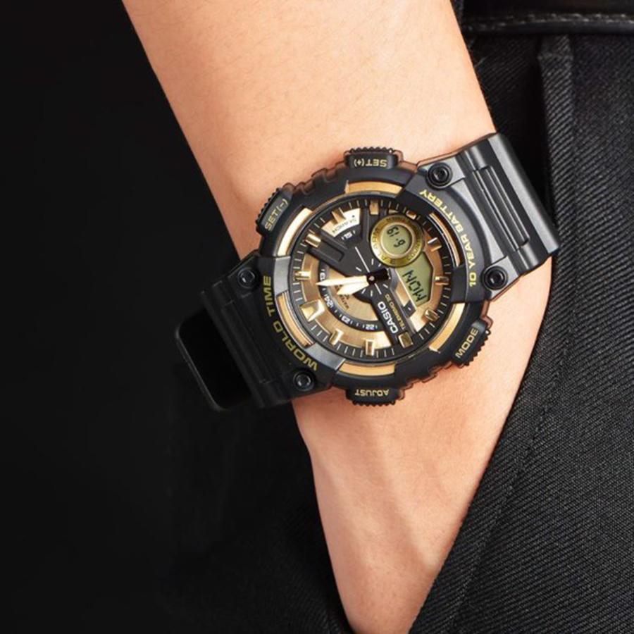 Đồng hồ nam dây nhựa Casio AEQ-110BW-9AVDF
