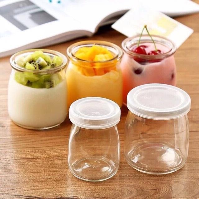 Hũ thủy tinh làm sữa chua cho gia đình 100ml - 200ml