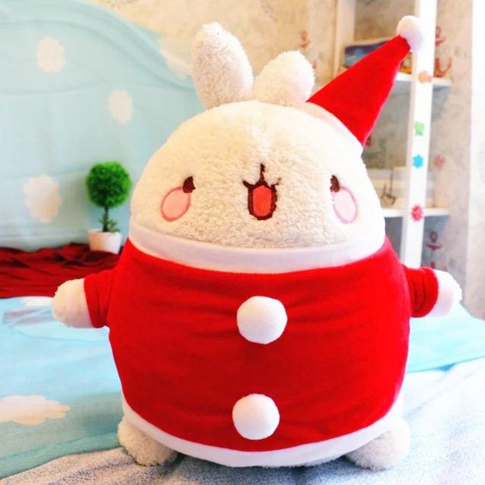 Thỏ con nhồi bông giáng sinh - thú bông noel làm quà tặng giáng sinh