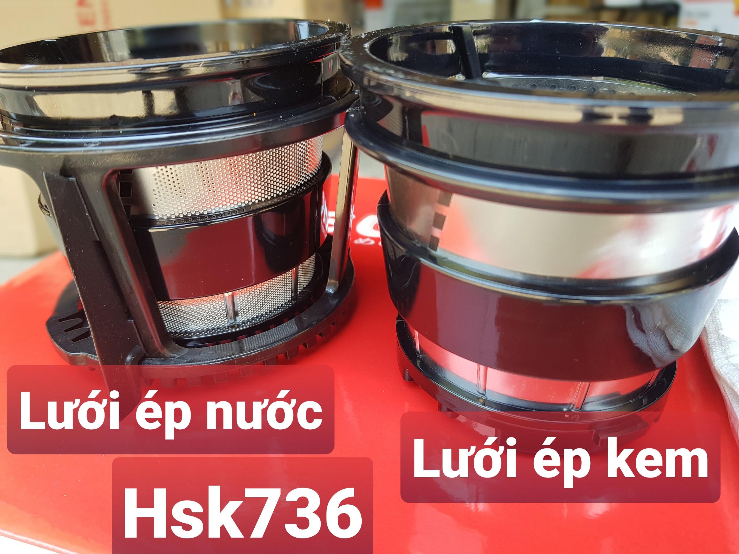 Máy ép chậm, Làm kem Hoa quả Cao cấp Hasuka HSK736 - 300W - Hàng Chính hãng