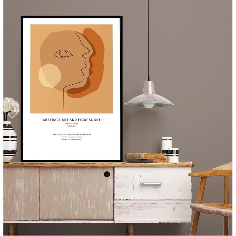 Tranh canvas Minimal treo tường hiện đại trang trí phòng khách, phòng ngủ - Tặng kèm đinh ba chân chuyên dụng