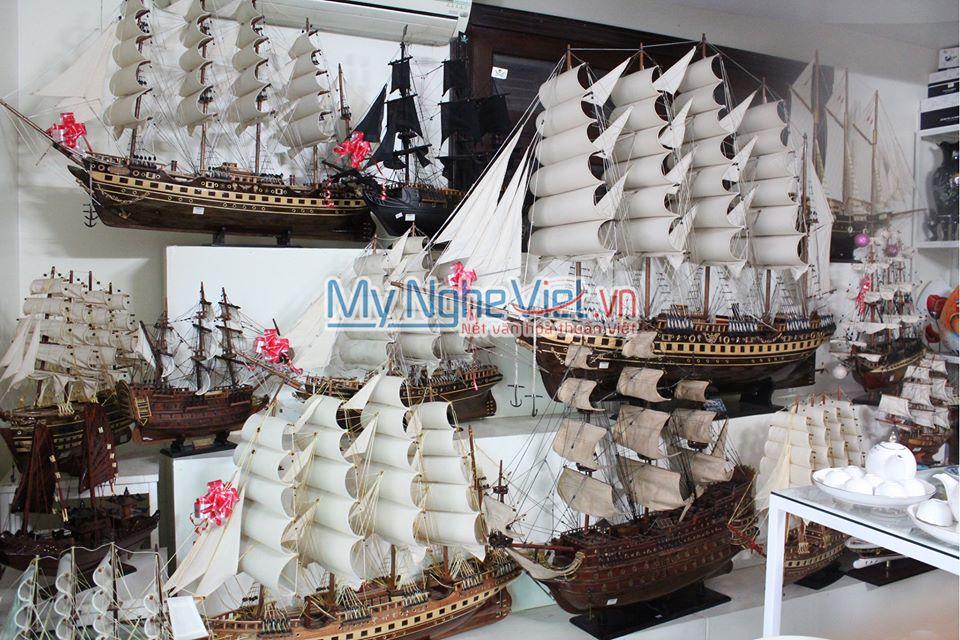 Mô hình tàu thuyền France II thân 1m loại 1 gỗ tự nhiên MNV-TB01