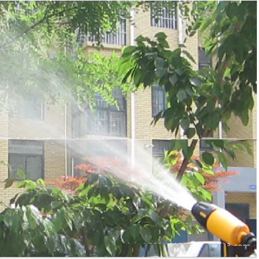 Bộ dây vòi xịt nước rửa xe, tưới cây đa năng, tăng áp 3 lần, loại 7m, 10m 206319 cút sập,+ tặng móc khoá
