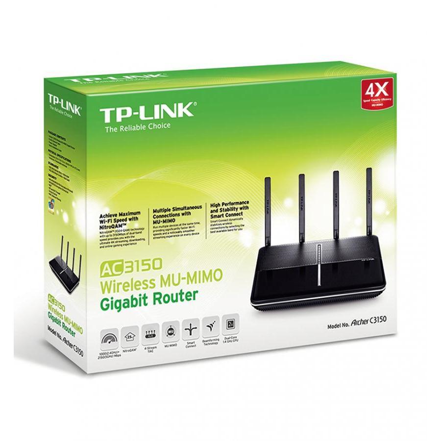Router Wi-Fi Băng Tần Kép TP-Link Archer C3150 AC3150 MU-MIMO - Hàng Chính Hãng