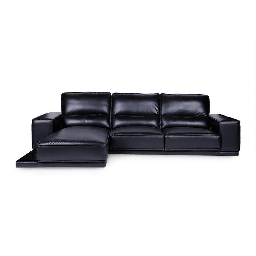 Sofa Da Chữ L Góc Phải Juno Finn 260 x 168 x 88 cm