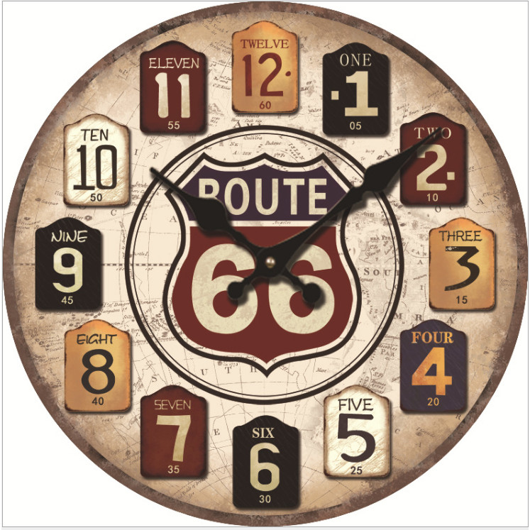 Đồng hồ treo tường Vintage mẫu mới năm nay size 23cm DH55