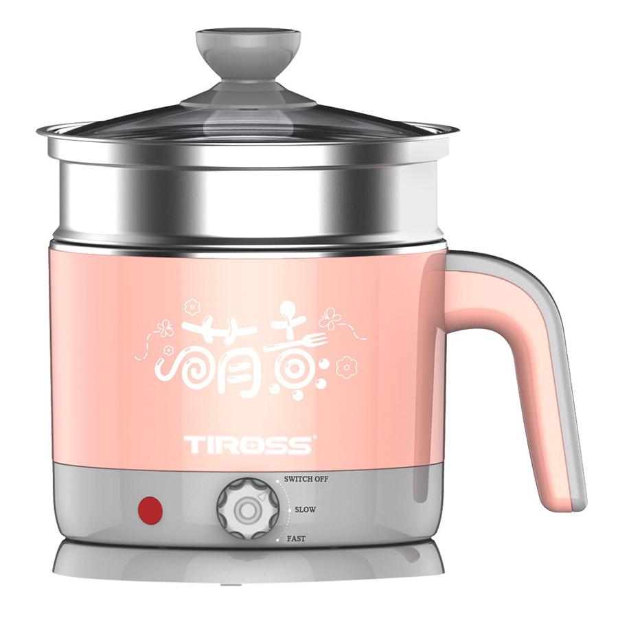 Ca Nấu Đa Năng Tiross TS1366 (1.2L) - Hồng - Hàng chính hãng