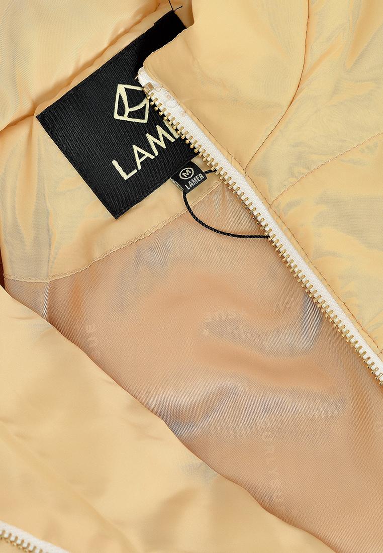 Áo phao cổ dựng, khóa đồng Lamer L65P18T032-S1800 ( Vàng nhạt )