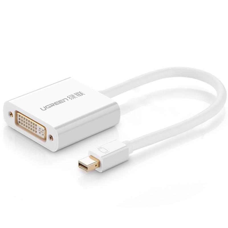 Cáp chuyển đổi Mini DisplayPort sang DVI-I (24+5) Converter UGREEN 10402 (màu trắng) - Hàng Chính Hãng