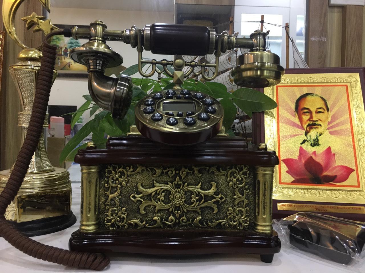 Điện thoại bàn cổ điển MS1 ( NGHE GỌI BẰNG  SIM DI ĐỘNG)