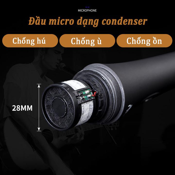 Micro có dây karaoke jack 6.5mm nhỏ gọn dùng cho loa bluetooth, loa di động