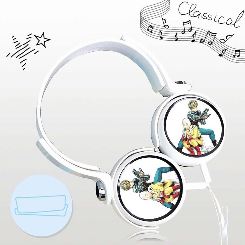 Tai nghe One punch-man anime chibi  thiết kế thông minh cá tính cắm dây có mic