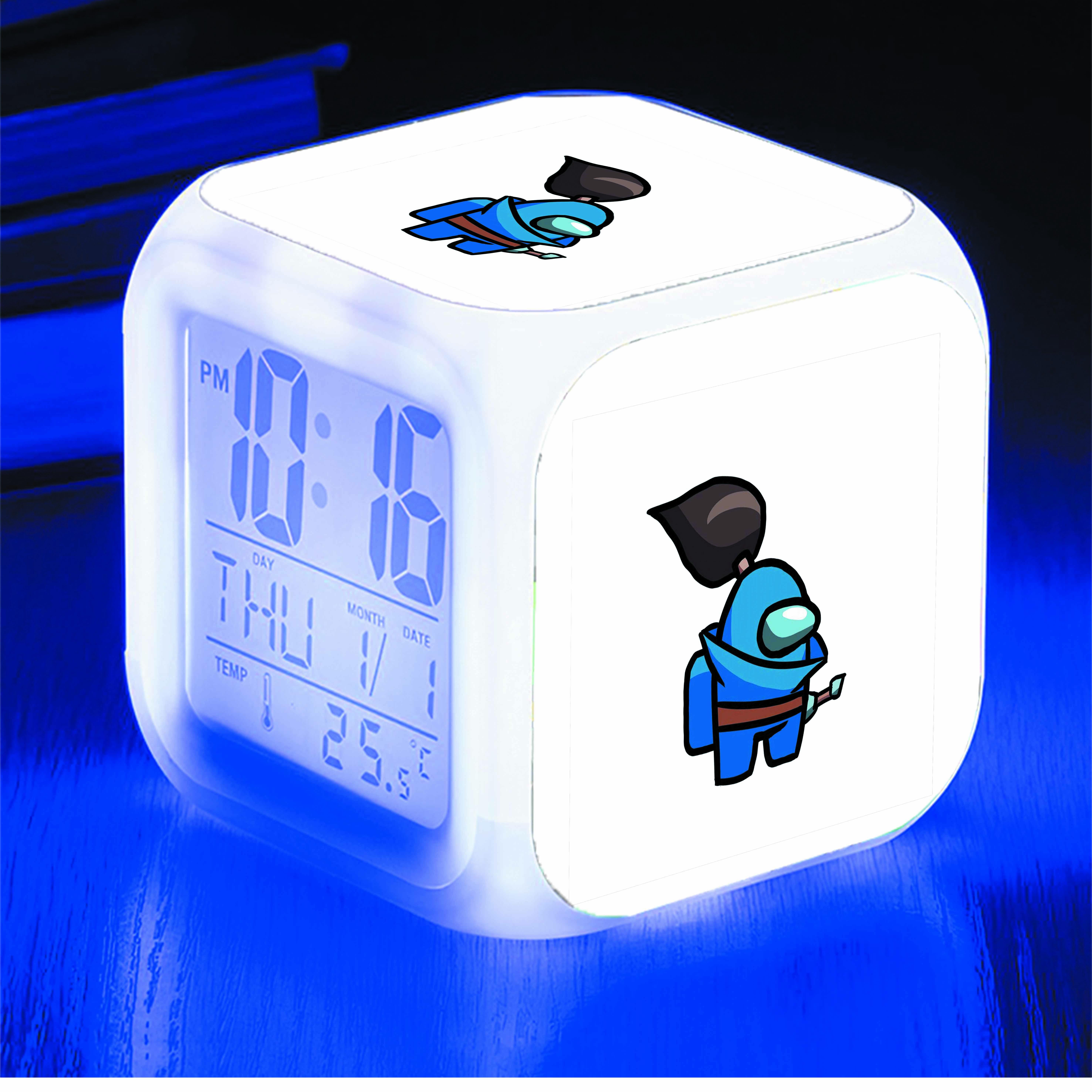 Đồng hồ báo thức để bàn IN HÌNH Among Us Yasuo game