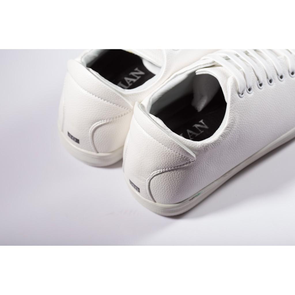 Giày Thể Thao Nam Màu Trắng Tăng Chiều Cao 6Cm Không Hề Lộ Cực Đẹp - Cực Chất - M360-TRANG(ĐG)- Kèm Đón Gót Sừng