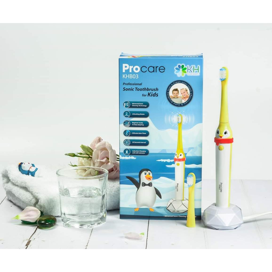 Bàn Chải Điện Trẻ Em Thế Hệ Mới Procare KHB03- Chăm Sóc Răng Miệng Hiệu Quả Cho Bé