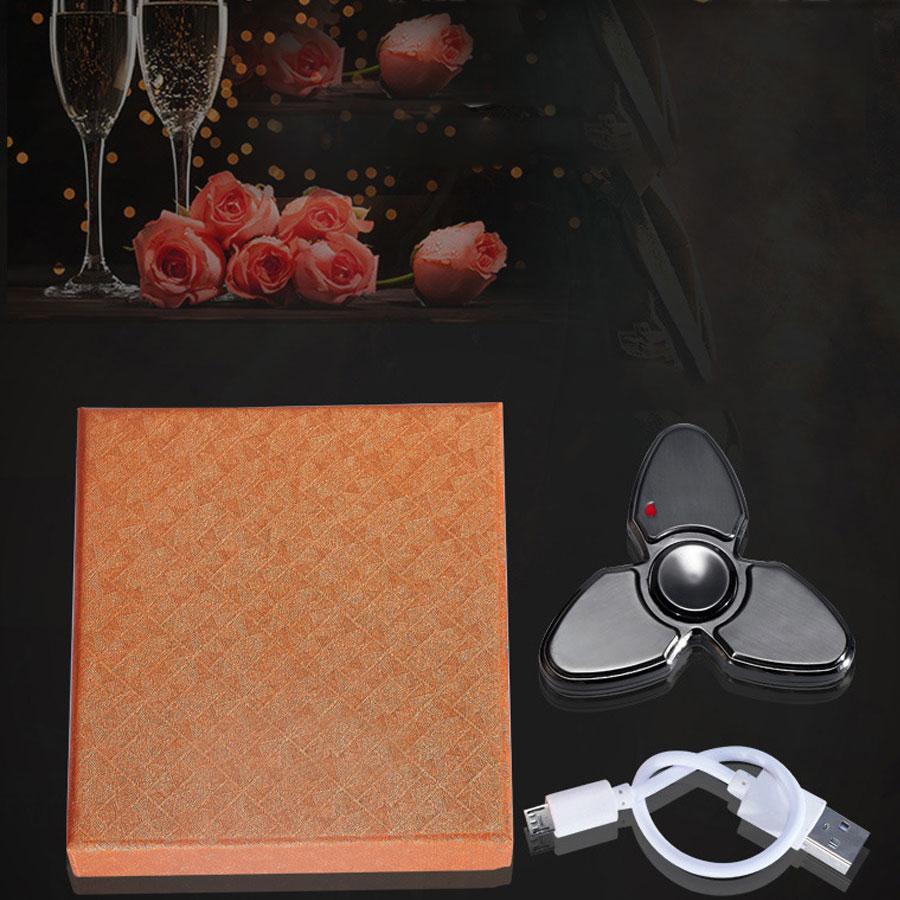 Hộp Quẹt Bật Lửa Hồng Ngoại Sạc Điện Qua Cổng USB Kiểu Dáng Spinner 3 Cách Tạo 18 Hiệu Ứng Đèn Led