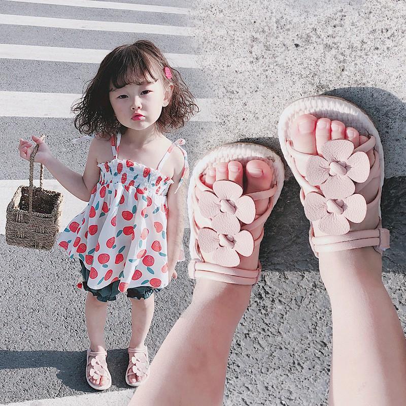 Sandal hè cho bé Dép hè bé gái đế mềm
