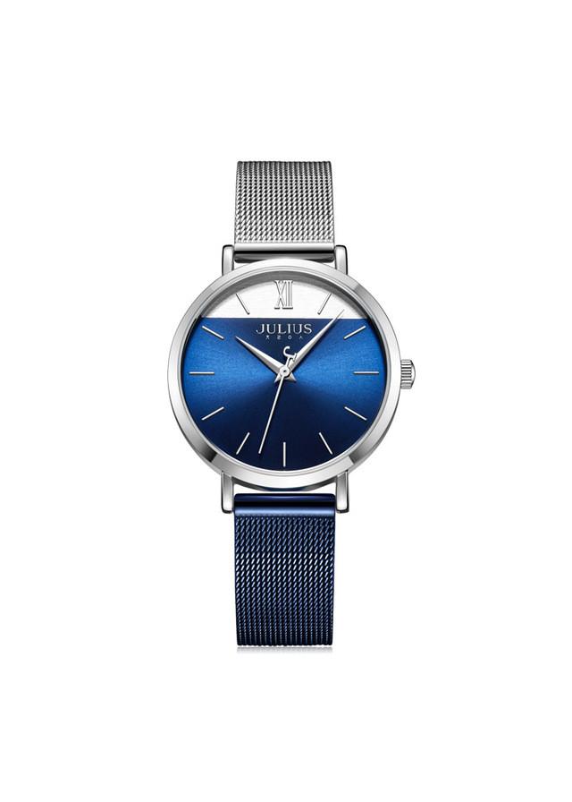 Đồng hồ nữ Julius Hàn Quốc JA-1237 dây mesh thiết kế độc đáo dây và mặt 2 màu (nhiều màu)