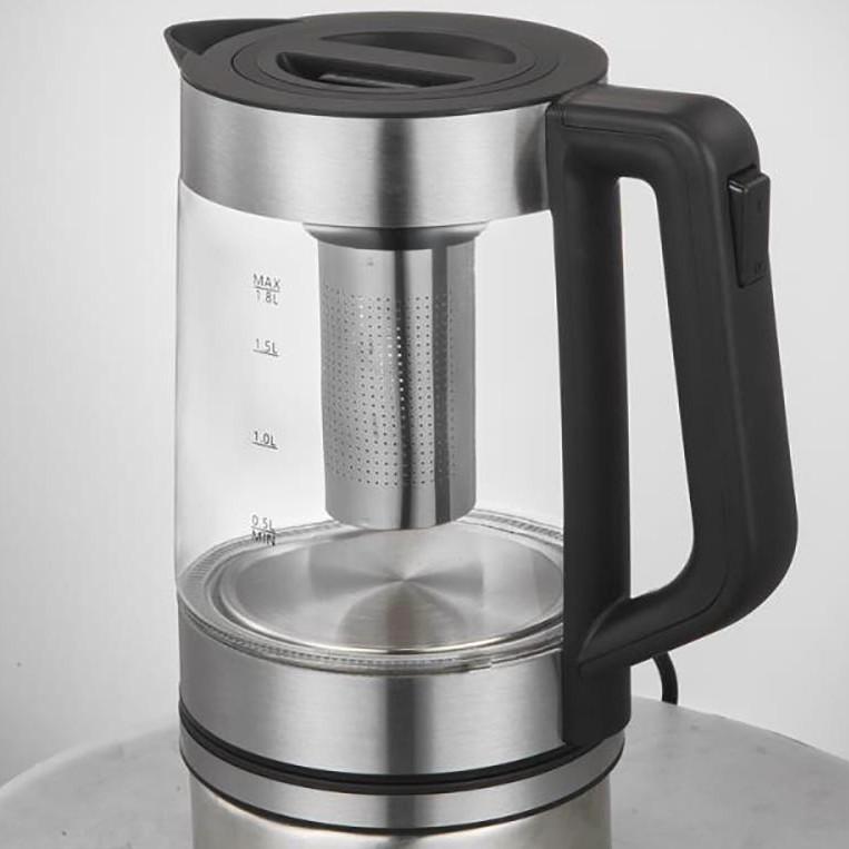 Ấm điện siêu tốc thủy tinh kiêm bình pha trà Galuz GK-01 dung tích 1.8 lít - Hàng chính hãng