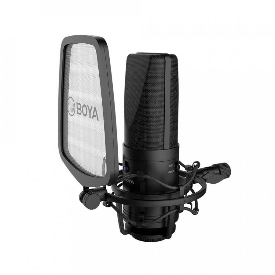 Boya BY-M1000 - Micro condenser 48V cho phòng thu - Hàng Chính Hãng