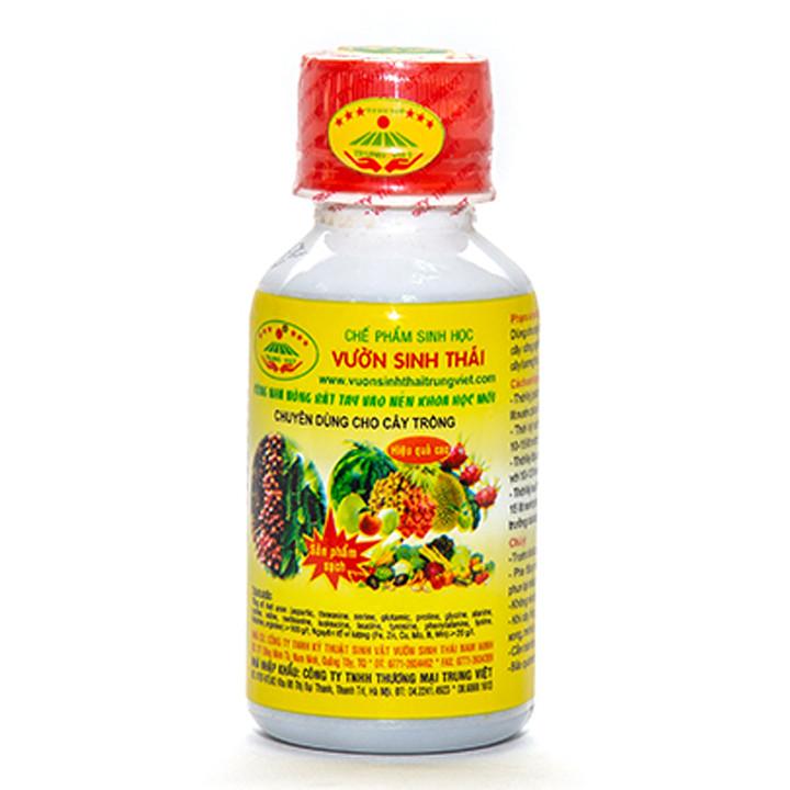 Combo 5 chai Chế phẩm sinh học VƯỜN SINH THÁI. Phân bón sinh học NANO giúp cây trồng rễ chắc, cành khỏe, đọt mạnh, ra hoa đậu trái nhiều. Chống rụng hoa, rụng quả sinh lý