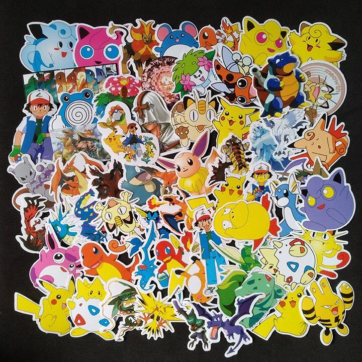 Set 60 Sticker Pokemon ảnh có ép lụa ( mẫu giao ngẫu nhiên )