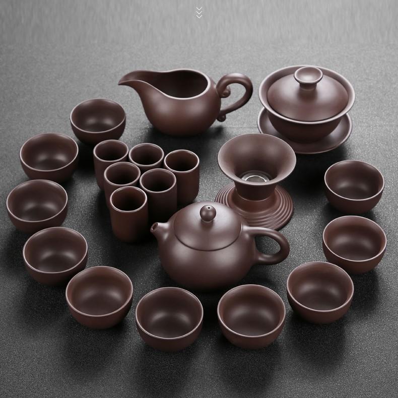Bàn trà điện thông minh nan gỗ Vượng Tài