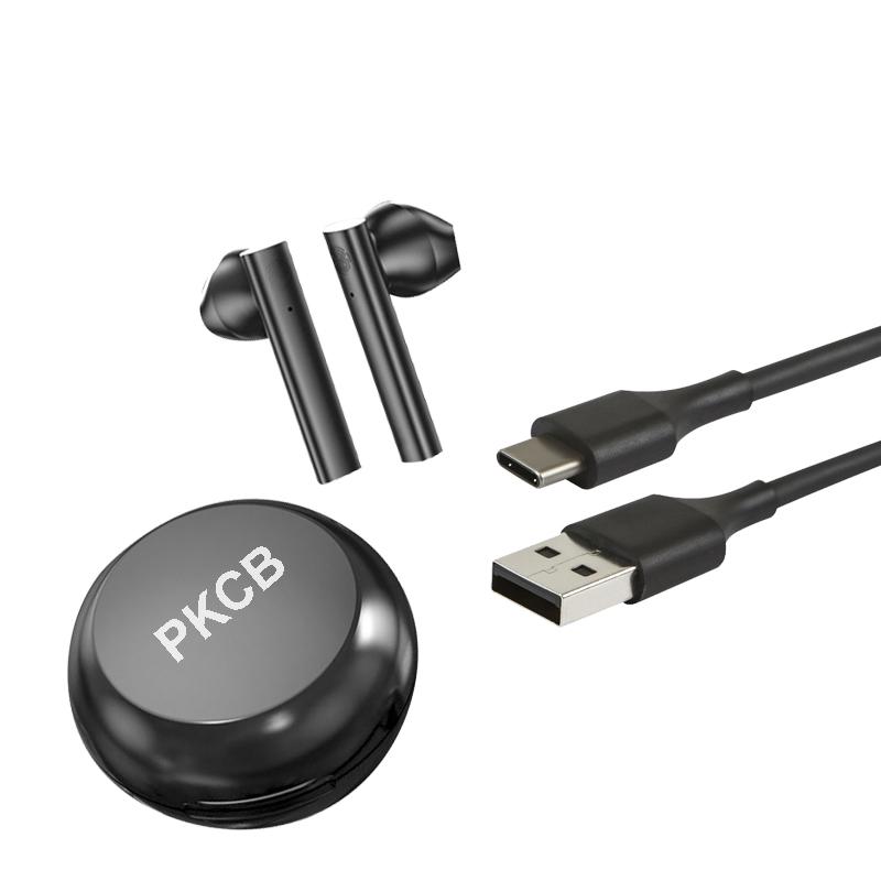 Tai Nghe Bluetooth Nhét Tai Hộp Tròn PKCB True Wireless, Sạc Type C - Hàng Chính Hãng