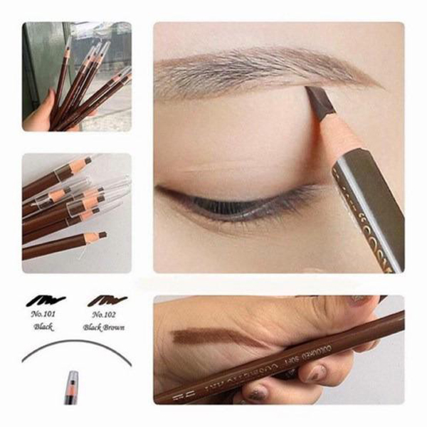 Chì mày xé Suri Eyebrow Pencil Hàn Quốc No.101 Black tặng kèm móc khoá
