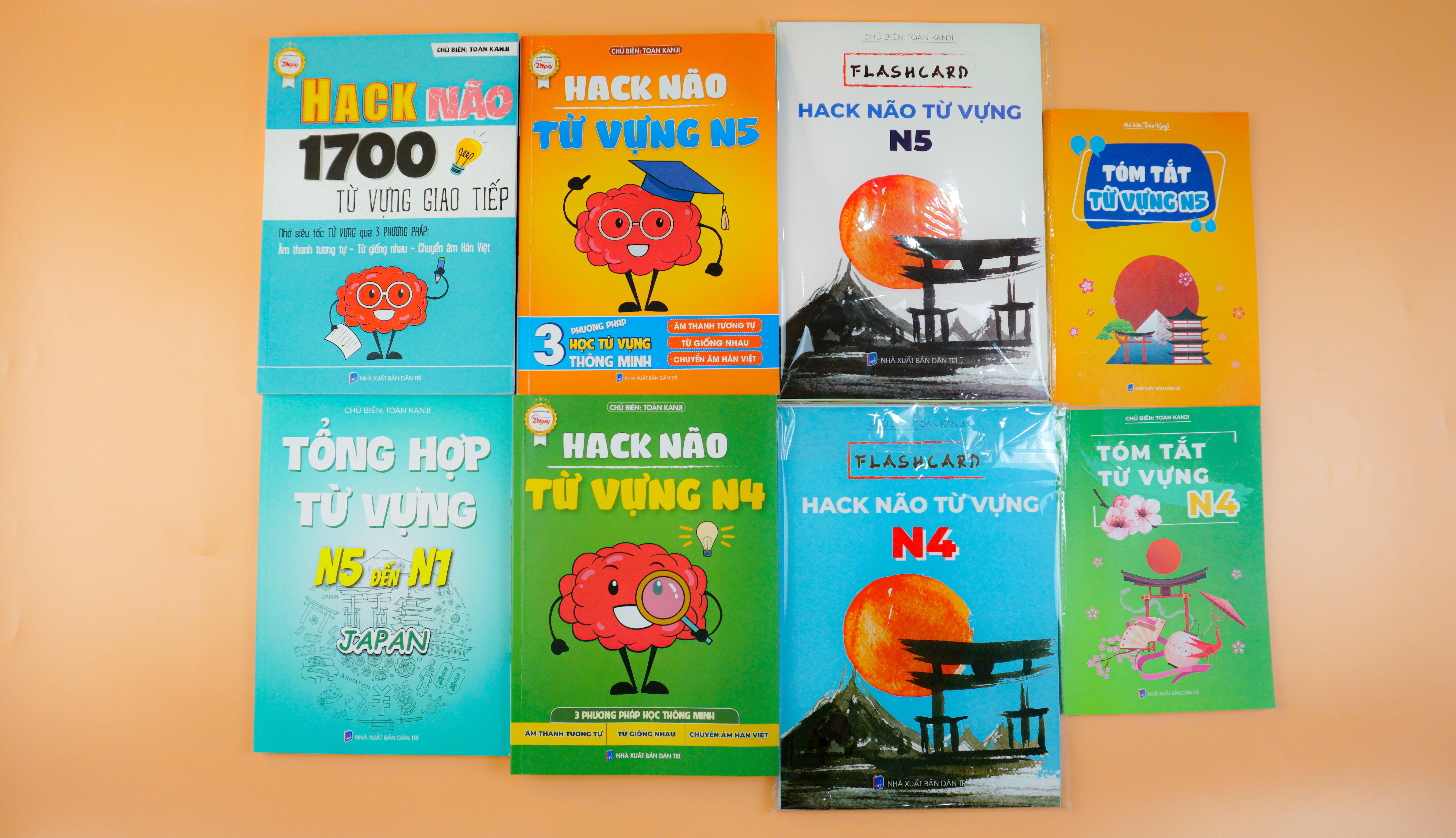 COMBO HACK NÃO TỪ VỰNG TIẾNG NHẬT N5 + N4 + 1700 TỪ VỰNG GIAO TIẾP TIẾNG NHẬT - Ghi nhớ siêu tốc từ vựng qua 3 phương pháp ÂM THANH TƯƠNG TỰ - TỪ GIỐNG NHAU VÀ CHUYỂN ÂM HÁN VIỆT