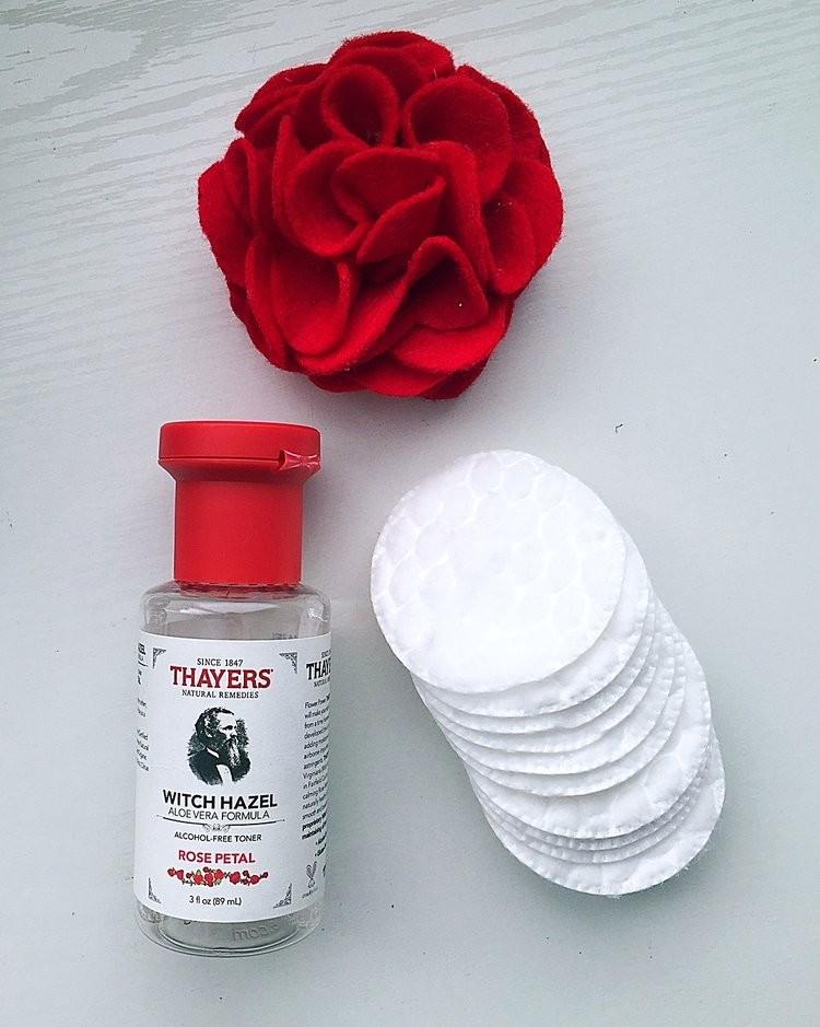 Nước Hoa Hồng Thayers Làm Sạch, Se Khít Lỗ Chân Lông Rose Phiên bản Mini Size 89ml + Tặng 1 bông Ipek 80 miếng