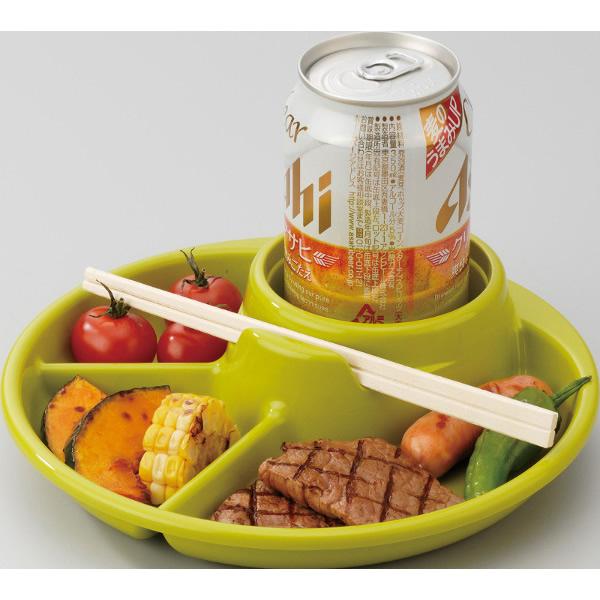 Bộ 2 khay ăn tiệc buffet, dã ngoại nhỏ gọn, đa năng (màu xanh) - Hàng Nội Địa Nhật