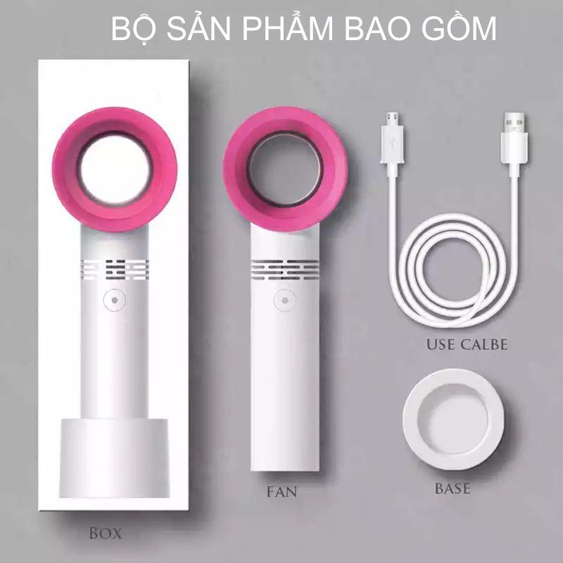 Quạt Mini Cầm Tay Sạc Điện Cổng USB không cánh-Màu Ngẫu Nhiên