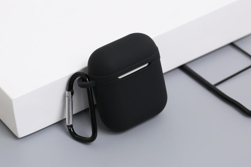 Vỏ đựng tai nghe - Bao đựng tai nghe - Túi đựng AirPods 1 & 2 silicone kèm móc JM AP02 - Hàng nhập khẩu - OPTAIS55B