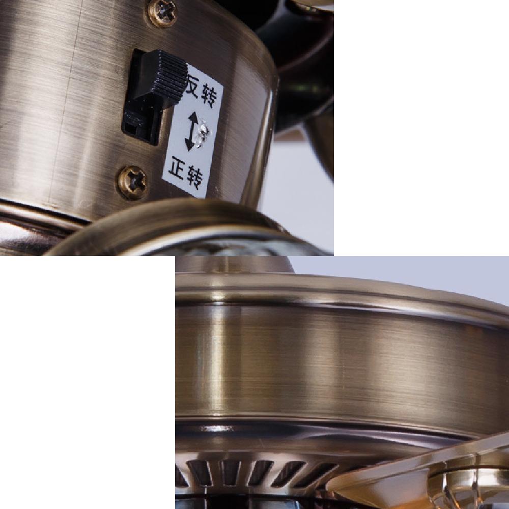 Quạt trần đèn chùm A191-1, quạt trần 5 cánh bằng đồng, có điều khiển từ xa, quay đảo chiều độc đáo