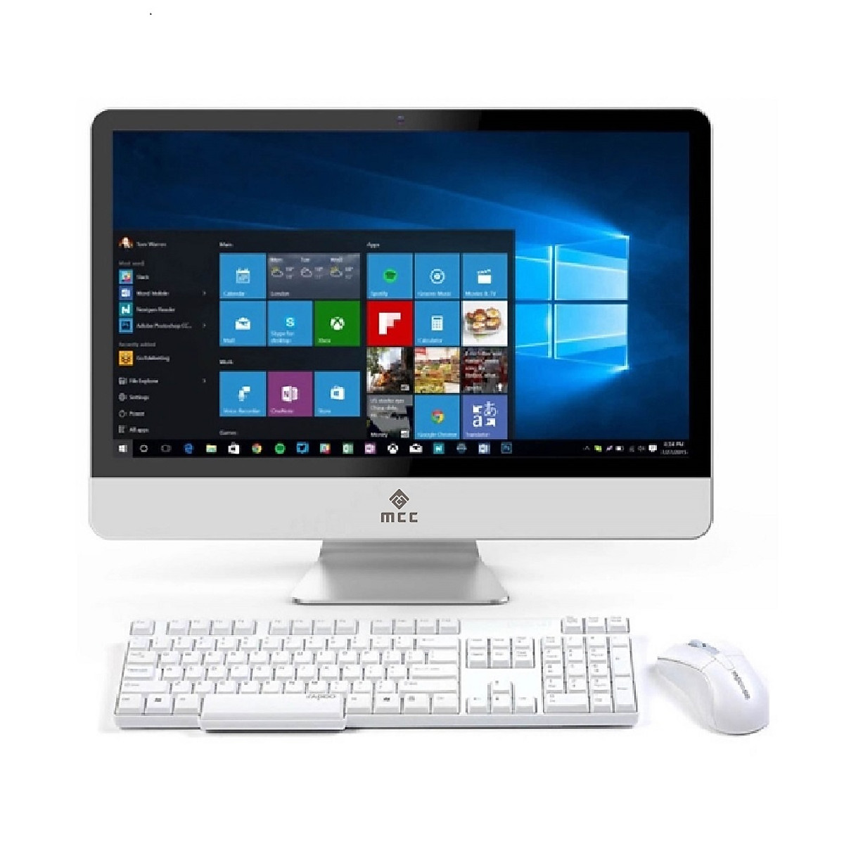 Bộ PC All in ONE (AIO) MCC3441G Home Office Computer CPU Dual 3.2Ghz/ Ram4G/ SSD120G/ wifi/ camera/ 22inch - Hàng Chính Hãng