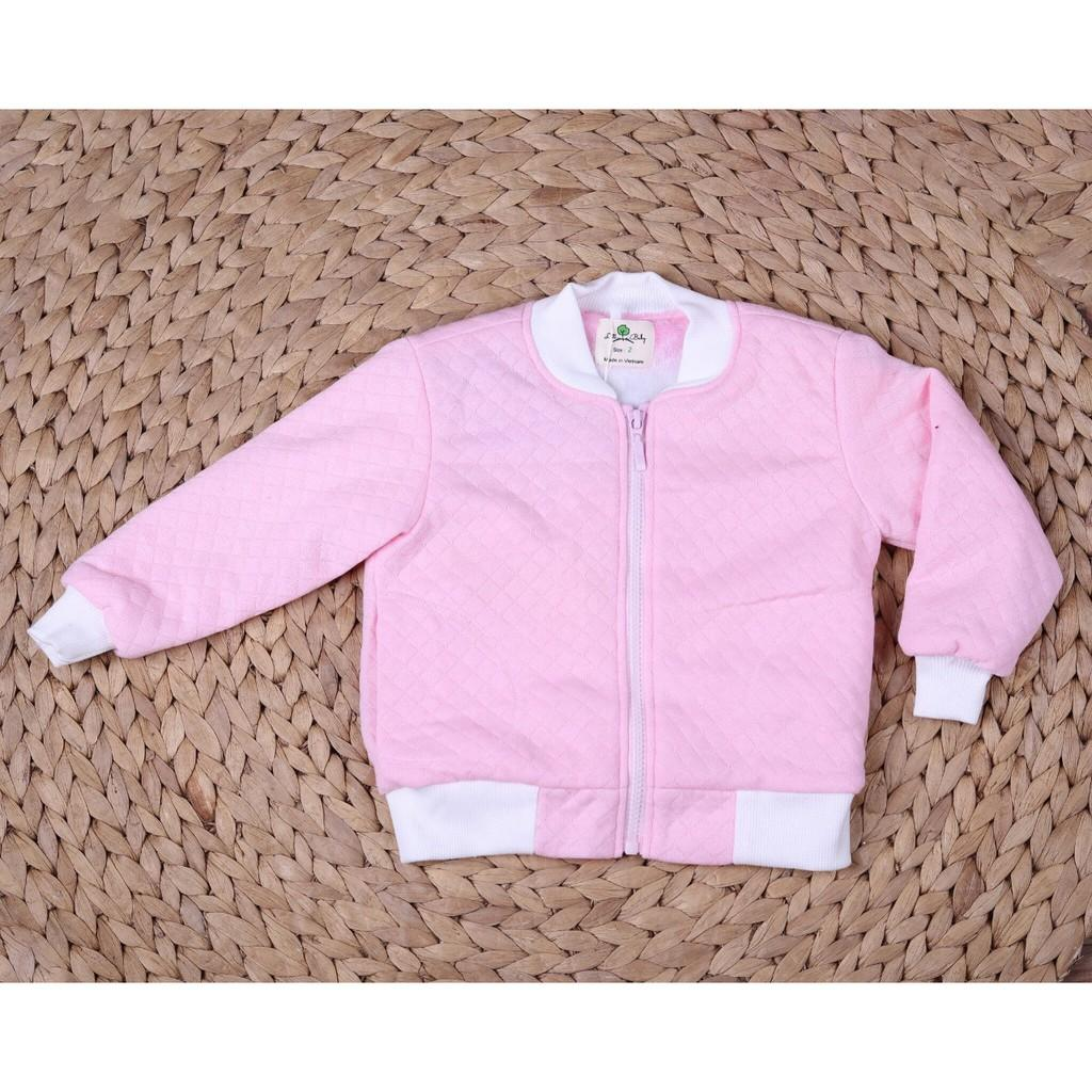 Thu đông 2020: Áo khoác Bomber bé gái lót lông thương hiệu Litibaby size 1-7, dành cho bạn từ 9 đến 23kg