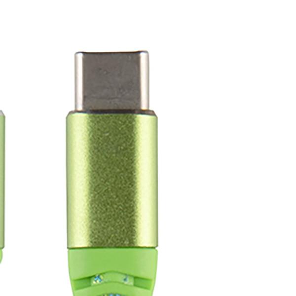 Cáp sạc cổng Micro USB-TYPE C chống đứt bọc vải - Hỗ trợ sạc nhanh và truyền dữ liệu (1.2m) - Hàng chính hãng
