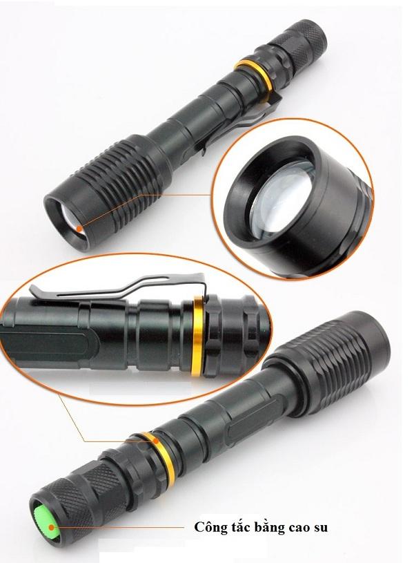 Đèn pin siêu sáng công suất lớn T6