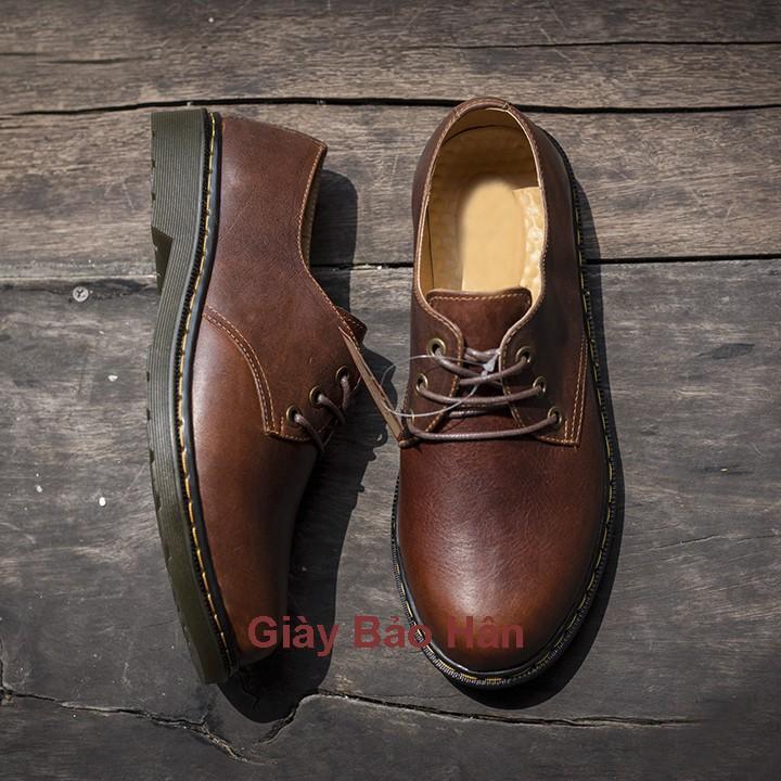 Giày Tây Nam Da Bò Sáp Nâu Mã Dr088