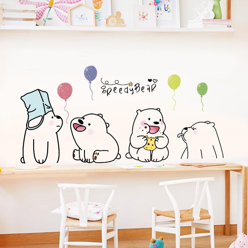 Decal trang dán tường Gấu dễ thương XL7243