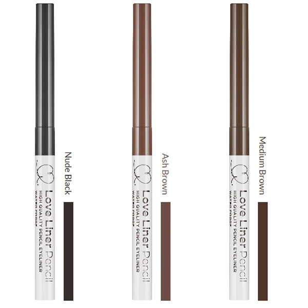 Bút Chì Kẻ Mắt Love Liner Pencil Eyeliner Medium Brown Màu Nâu Vừa Bột Mịn, Chống Mồ Hôi, Kiềm Dầu