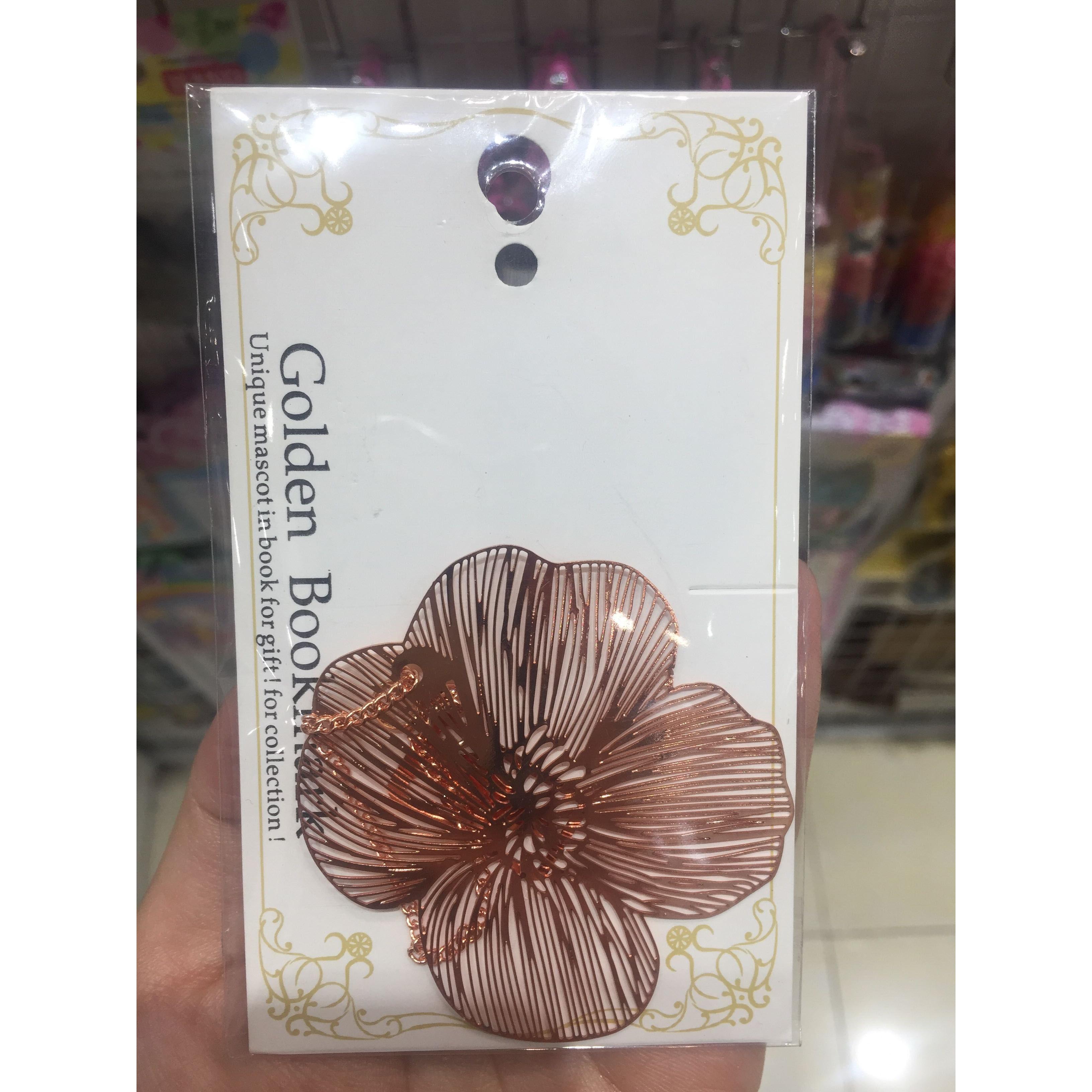 Bookmark kim loại mặt dây chuyền sáng tạo - Hoa Violet hồng