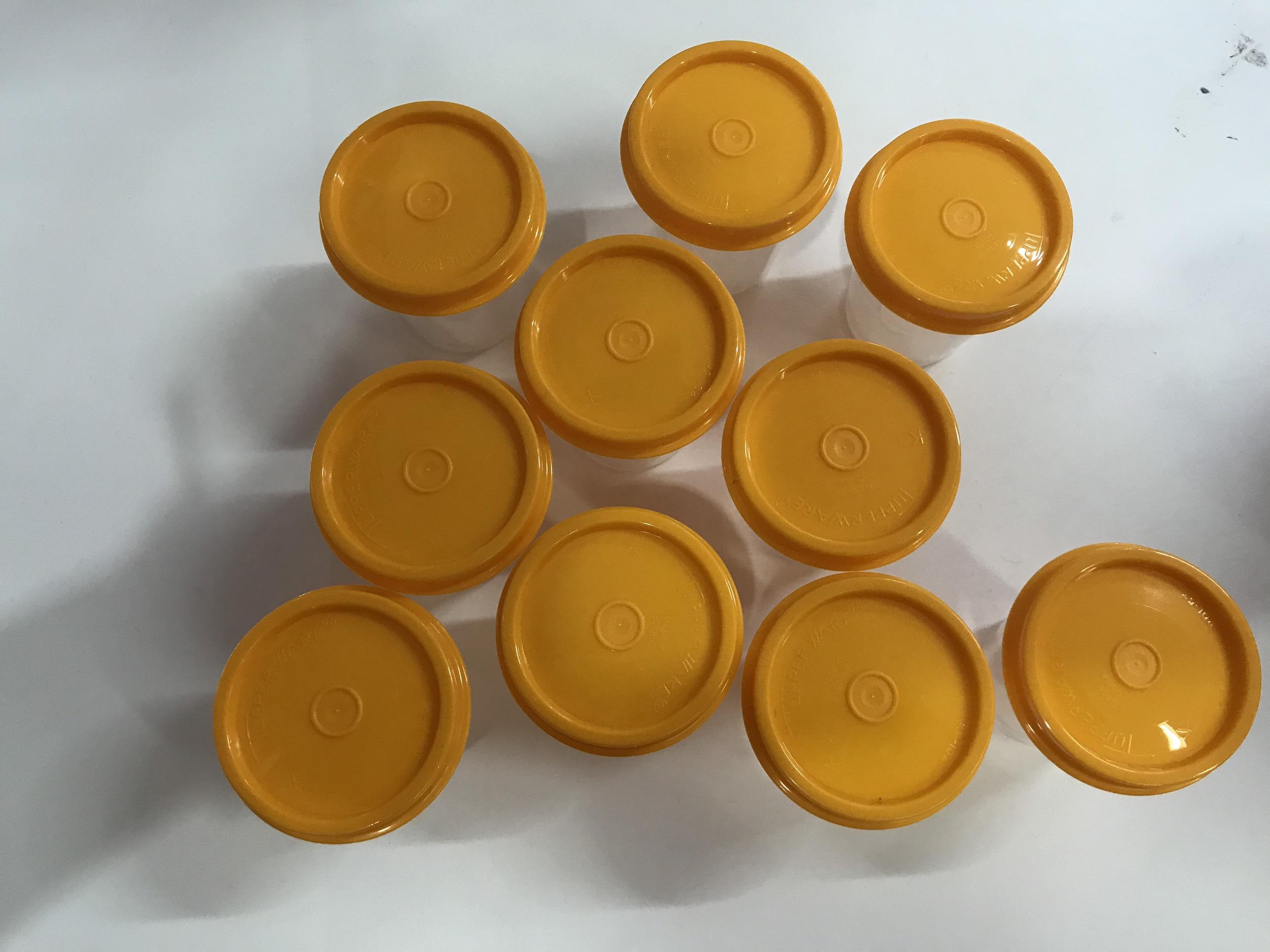 Set 10 hộp trữ thực phẩm Midget Tupperware