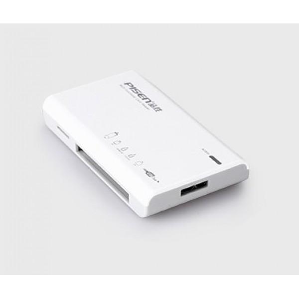 Đầu đọc thẻ Pisen Multi-Disk USB 3.0 (All in one )(6Slot) White _Hàng chính hàng